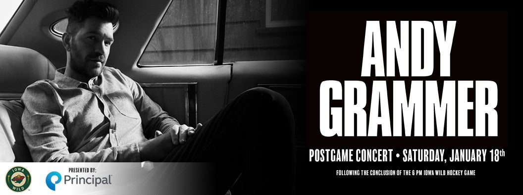 IOWA WILD ANNOUNCES ANDY GRAMMER AS POST-GAME CONCERT