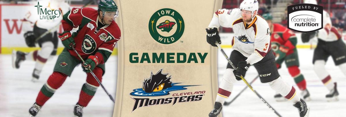 GAME PREVIEW – IOWA WILD AT CLEVELAND MONSTERS 1.25.18