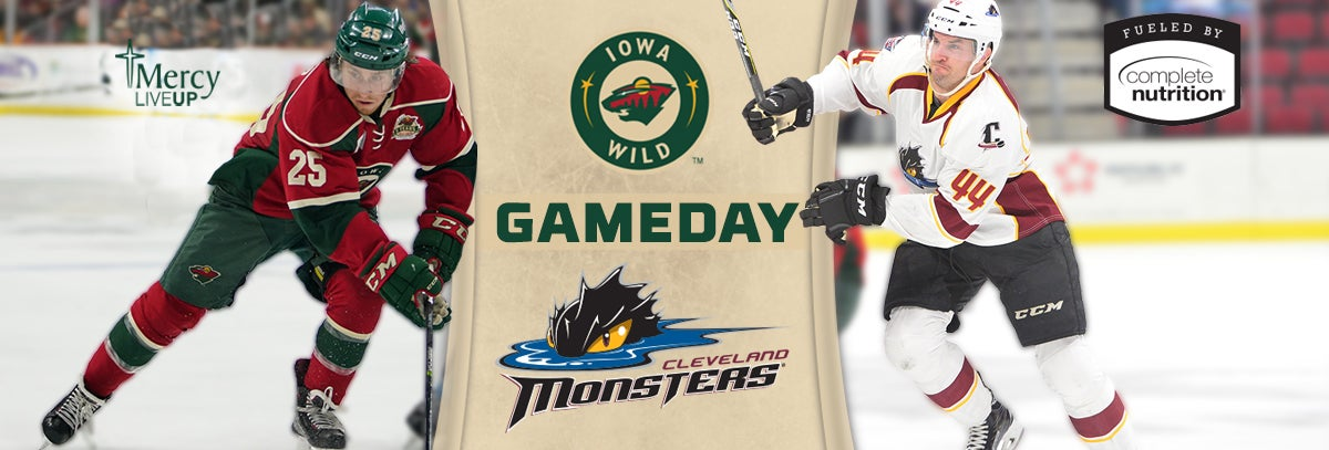 GAME PREVIEW – IOWA WILD AT CLEVELAND MONSTERS 1.27.18