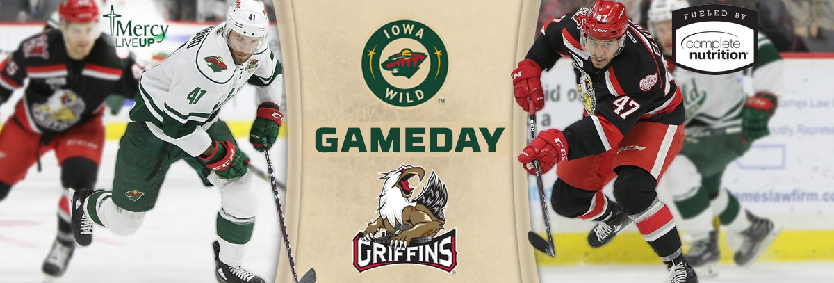 GAME PREVIEW – IOWA WILD VS. GRAND RAPIDS GRIFFINS 3.23.18