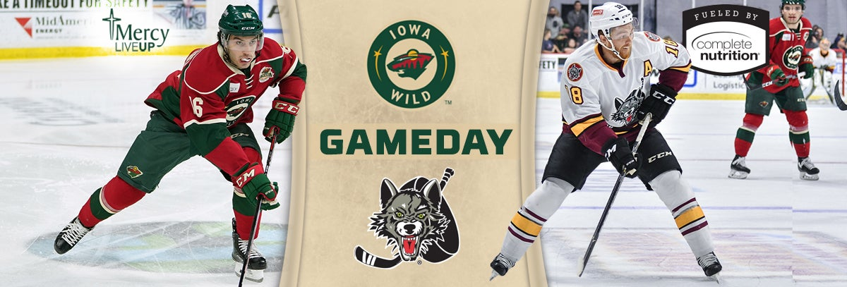 GAME PREVIEW – IOWA WILD AT CHICAGO WOLVES 3.28.18