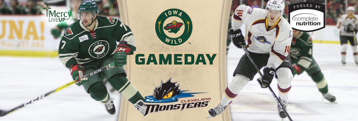 GAME PREVIEW – IOWA WILD VS. CLEVELAND MONSTERS 4.3.18