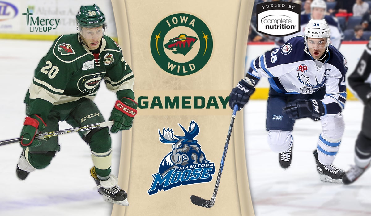 GAME PREVIEW – IOWA WILD VS. MANITOBA MOOSE 1.6.18