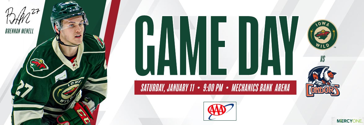 GAME PREVIEW – IOWA WILD AT BAKERSFIELD CONDORS
