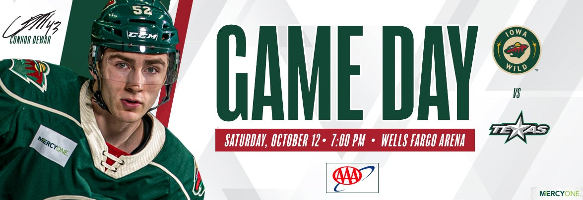 GAME PREVIEW – IOWA WILD VS. TEXAS STARS