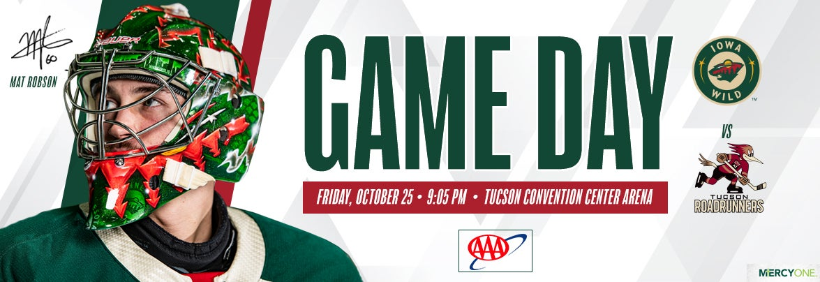 GAME PREVIEW – IOWA WILD AT TUCSON ROADRUNNERS