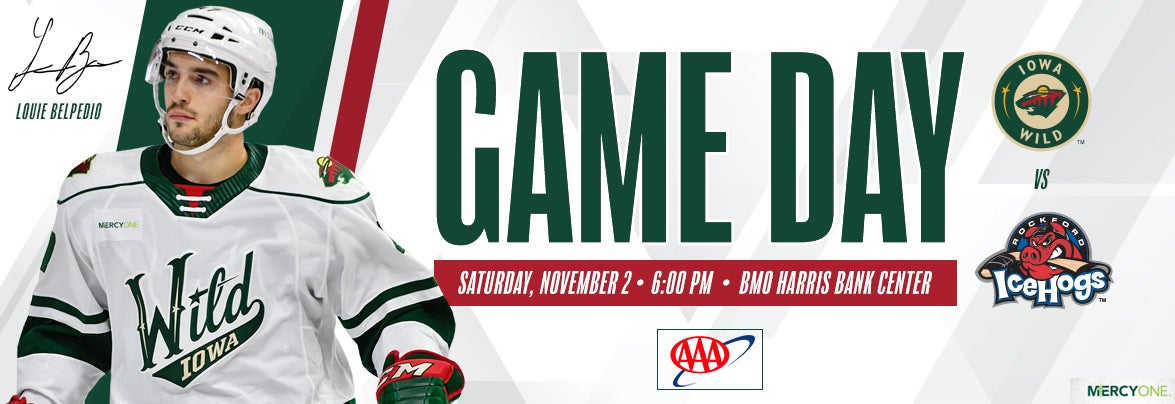 GAME PREVIEW – IOWA WILD AT ROCKFORD ICEHOGS