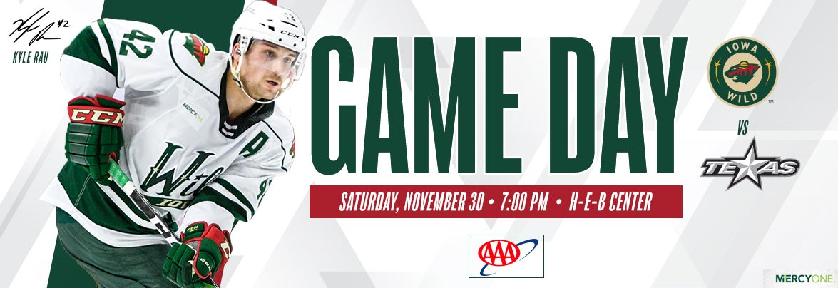 GAME PREVIEW – IOWA WILD AT TEXAS STARS