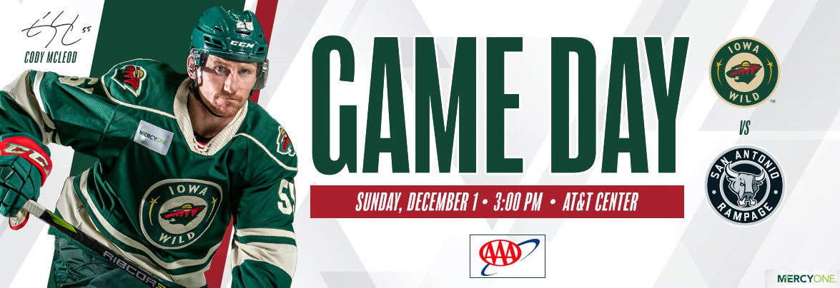 GAME PREVIEW – IOWA WILD AT SAN ANTONIO RAMPAGE