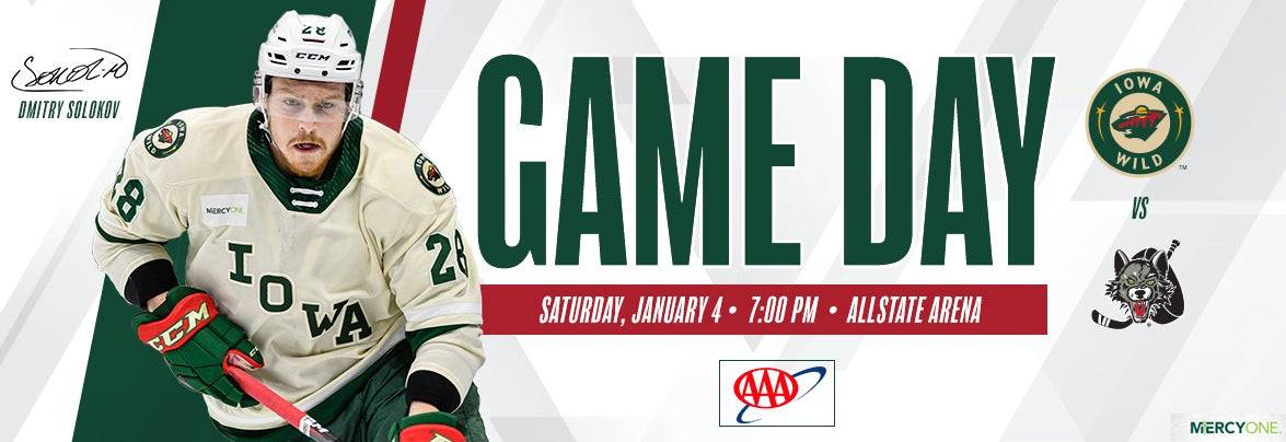 GAME PREVIEW – IOWA WILD AT CHICAGO WOLVES