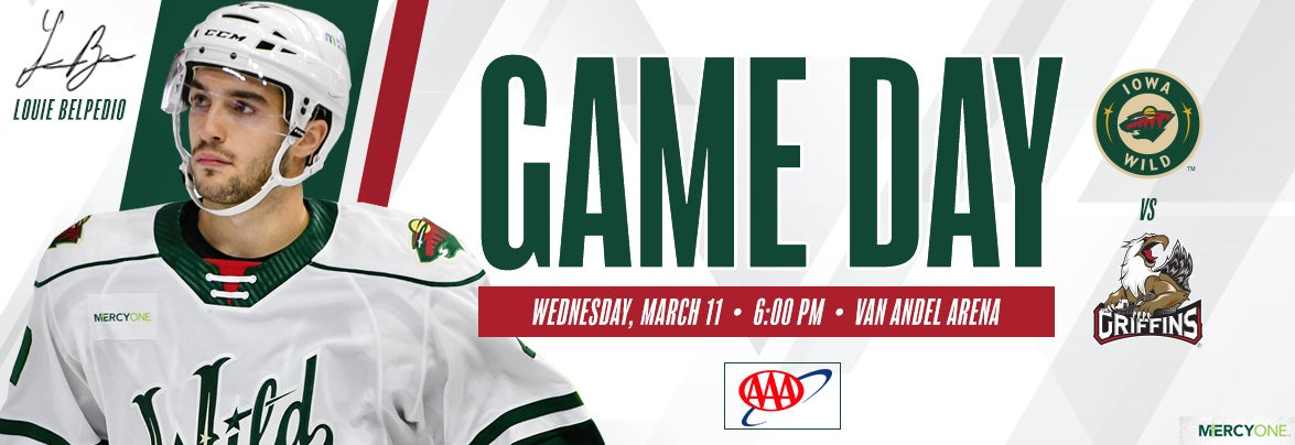 GAME PREVIEW – IOWA WILD AT GRAND RAPIDS GRIFFINS