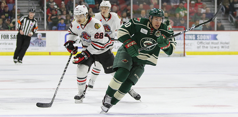 IOWA WILD FALLS TO ROCKFORD ICEHOGS 6-3
