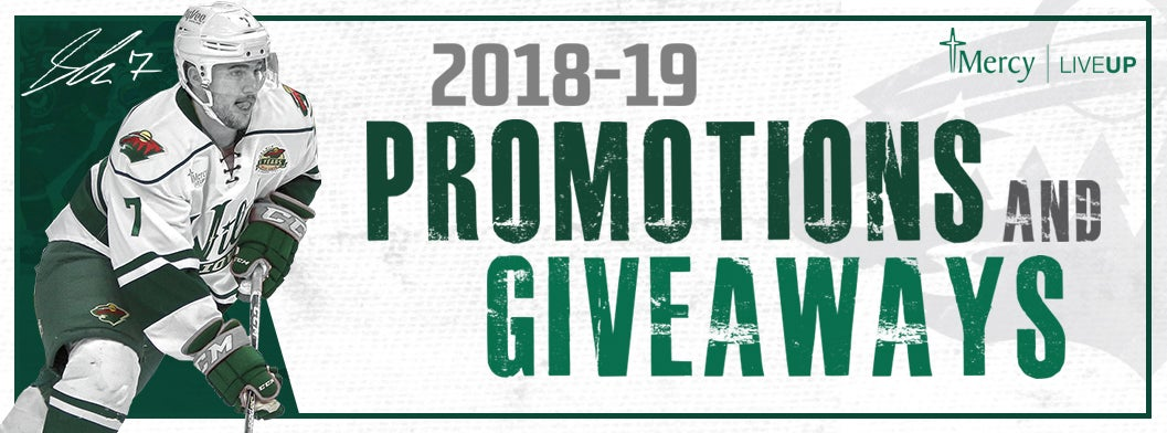 IOWA WILD ANNOUNCES 2018-19 PROMOTIONAL SCHEDULE | Iowa Wild