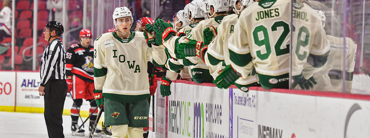 IOWA TAKES DOWN GRAND RAPIDS WITH 5-4 WIN ON HOME ICE