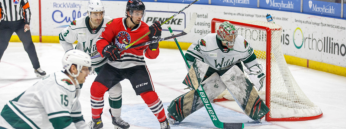 WILD SECURE ONE POINT IN OVERTIME LOSS TO ICEHOGS