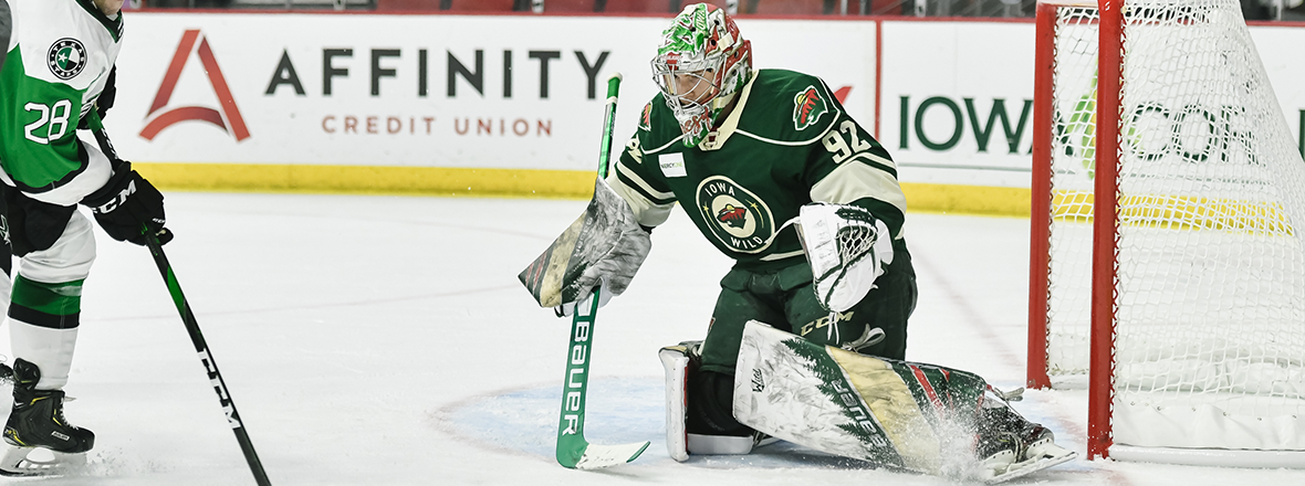 GOALTENDER HUNTER JONES AWARDED CCM/AHL PLAYER OF THE WEEK
