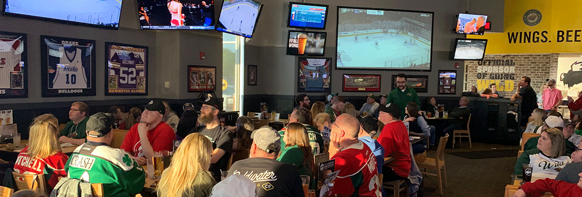 WILD SEE STANDING-ROOM ONLY CROWDS AT PLAYOFF WATCH PARTIES