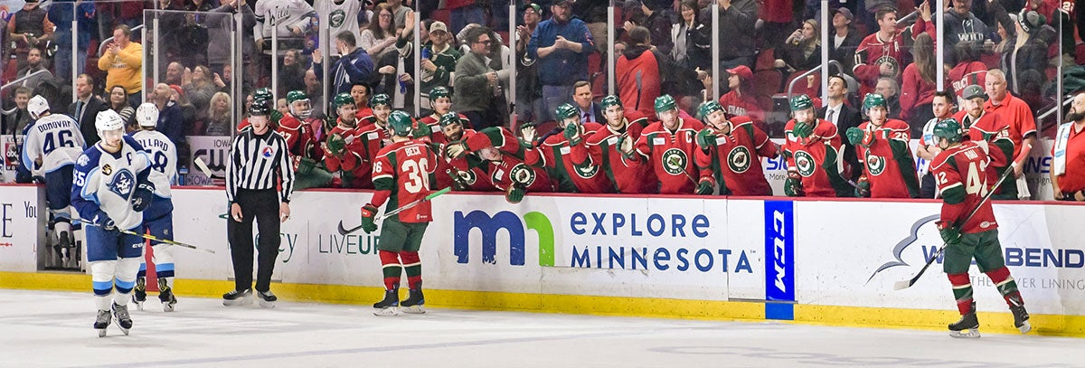 IOWA WILD MOVES INTO FIRST PLACE WITH 6-0 WIN AGAINST MILWAUKEE