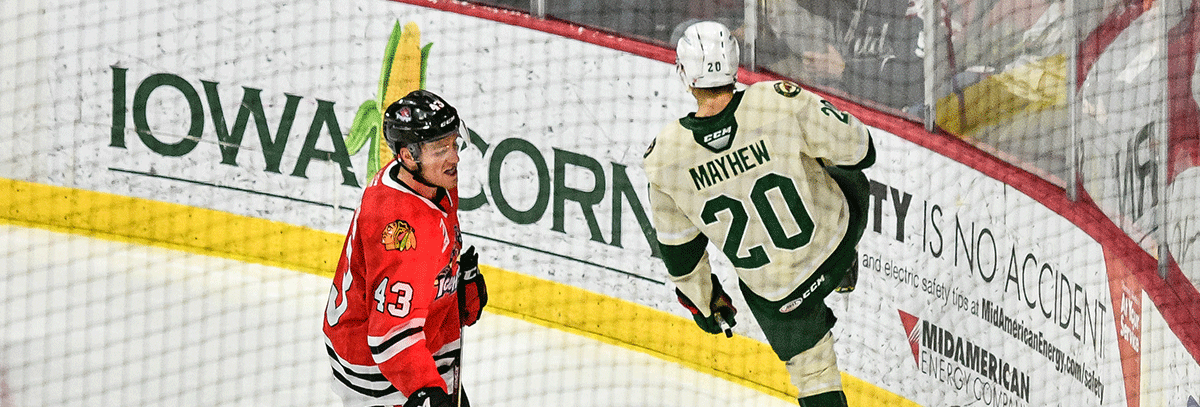 WILD ROASTS ICEHOGS IN 5-1 VICTORY