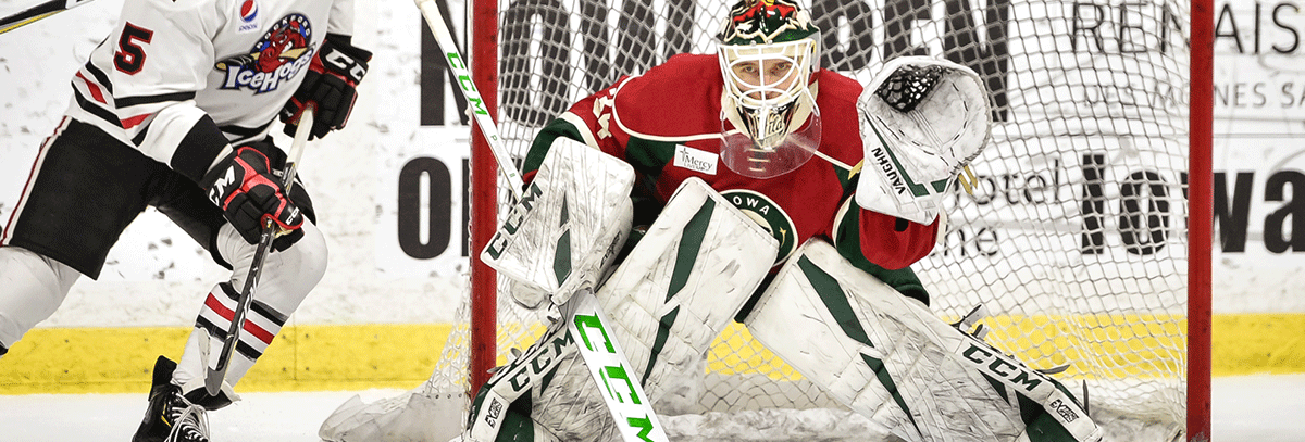 KAHKONEN SHINES AS WILD SHUTS OUT ROCKFORD 3-0