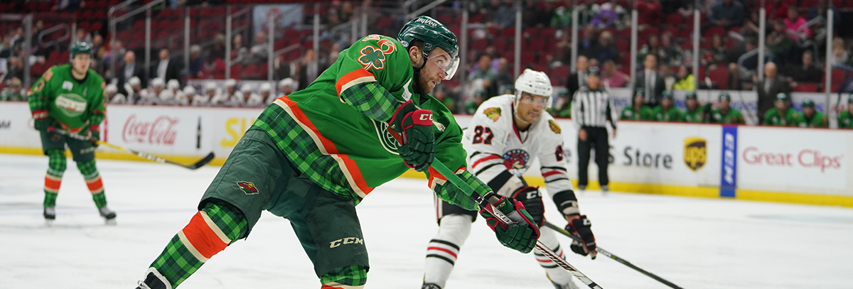 IOWA ENDS THREE-IN-THREE WITH 4-2 LOSS TO ROCKFORD