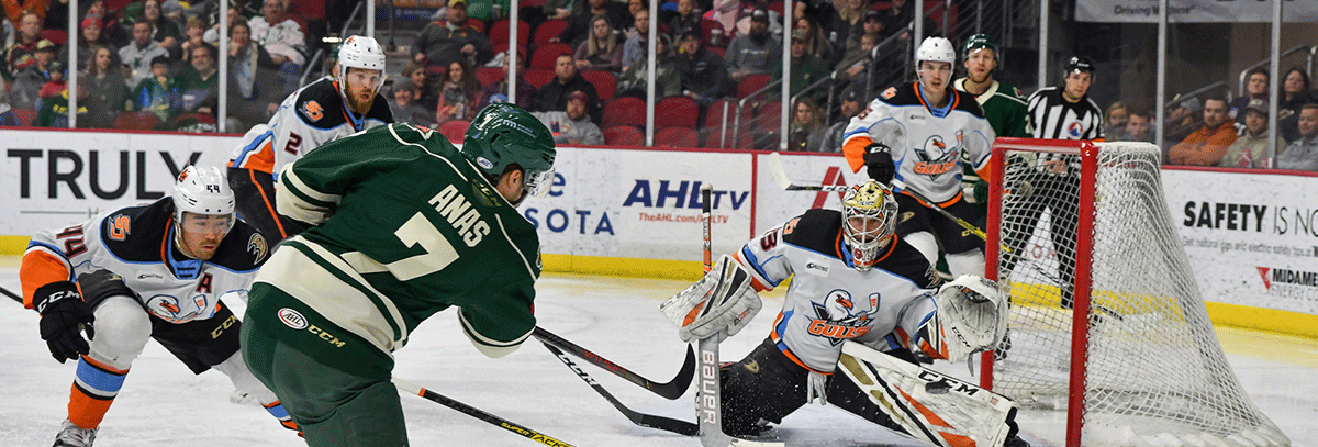 WILD CLIPPED BY GULLS IN 5-2 LOSS