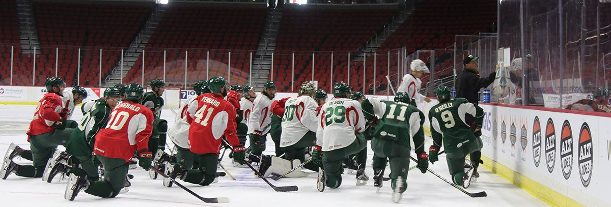 IOWA WILD OPENS TRAINING CAMP WITH HIGH ENERGY AND HIGH ASPIRATIONS