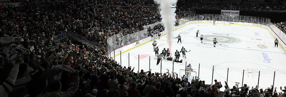 IOWA WILD EXPERIENCE MAJOR SUCCESS WITH NHL PRESEASON GAME