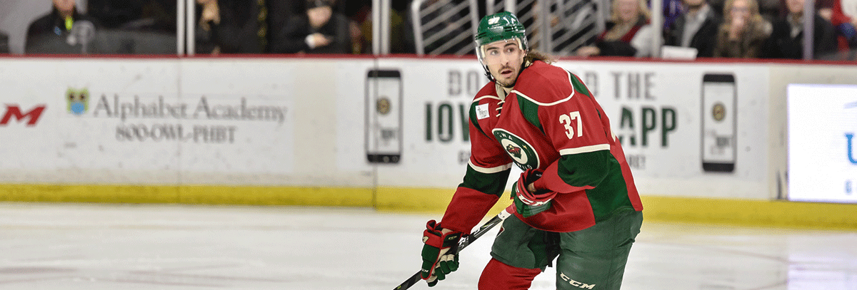 MINNESOTA WILD RE-SIGNS DEFENSEMAN HUNTER WARNER TO ONE-YEAR, TWO-WAY CONTRACT