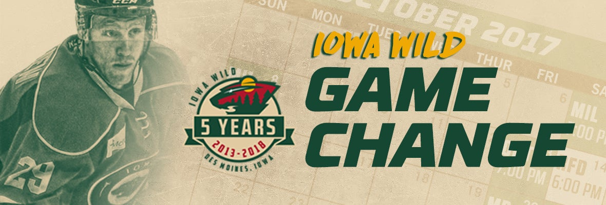 WILD MOVES START TIME TO 7 PM ON FEB. 19