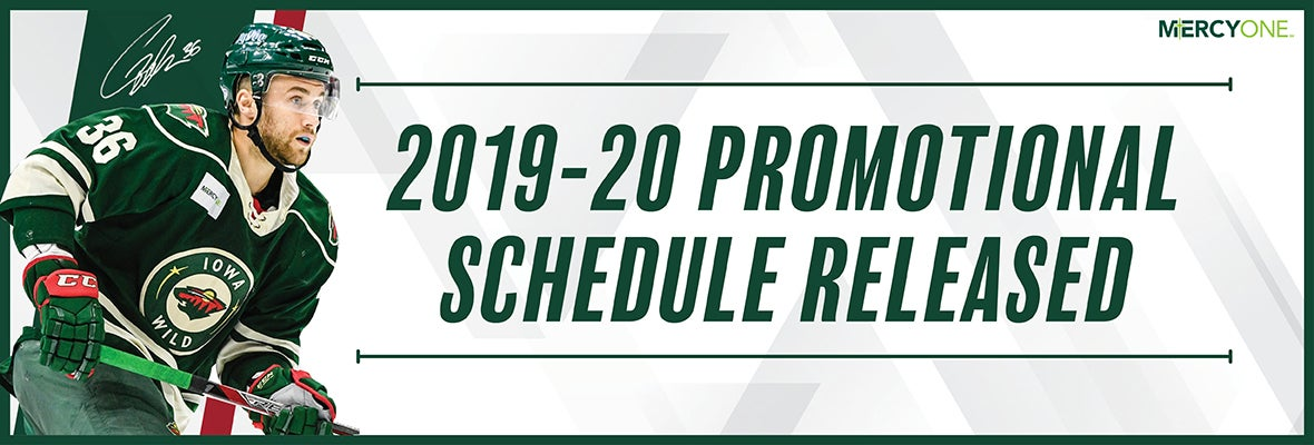 IOWA WILD ANNOUNCES 2019-20 PROMOTIONAL SCHEDULE