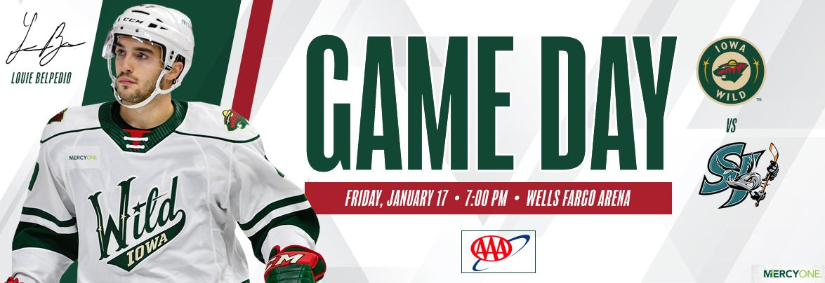 GAME PREVIEW – IOWA WILD VS. SAN JOSE BARRACUDA