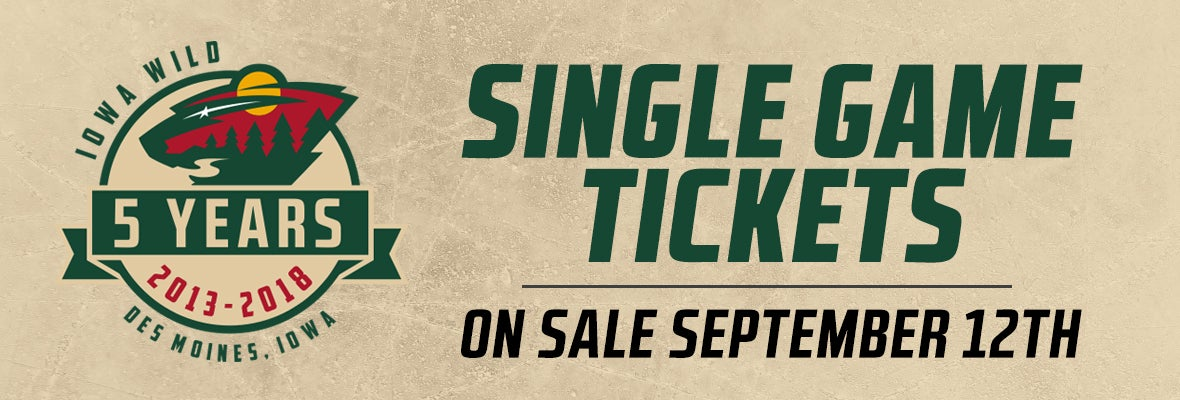 SINGLE-GAME TICKETS ON SALE SEPT. 12