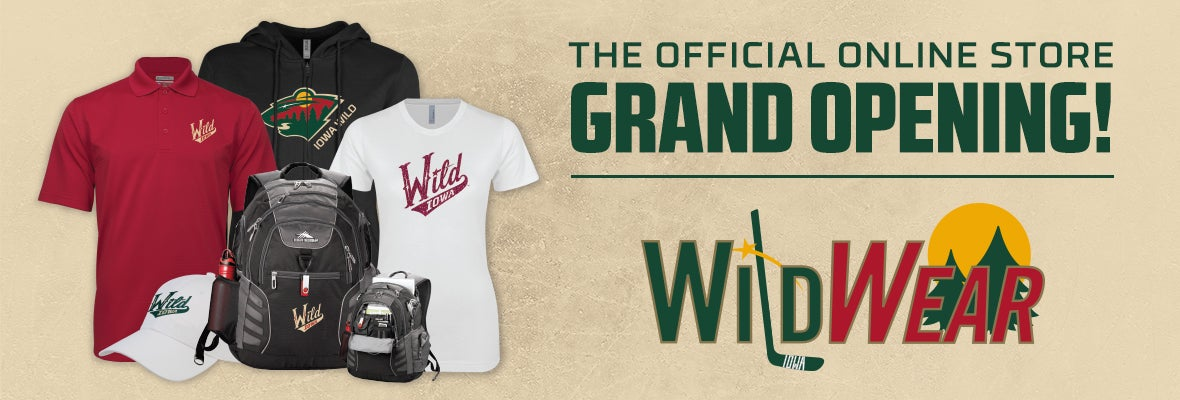 IOWA WILD ANNOUNCES GRAND OPENING FOR WILDWEAR.COM